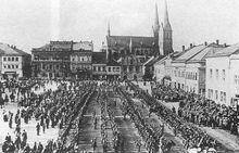 奥匈帝国第九十八步兵团在东波希米亚集结